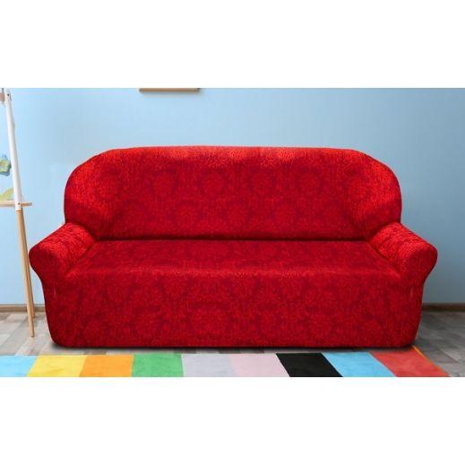 Чехол на  2-ух мест диван Богемия Рохо красный