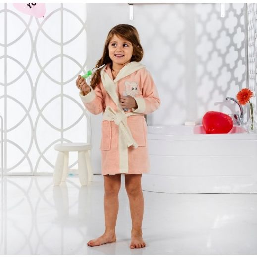 Детский халат с капюшоном Karna Snop