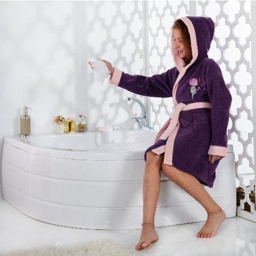 Халат с капюшоном Karna Snop фиолетовый