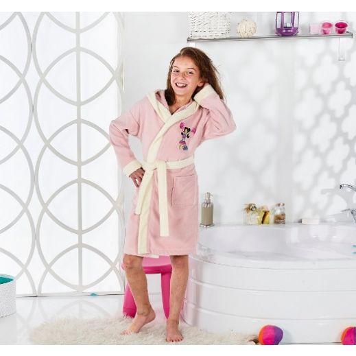 Халат с капюшоном Karna Snop розовый