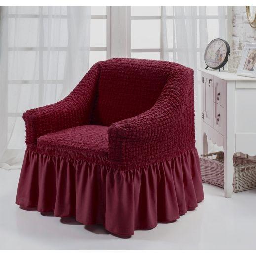 """Чехол для кресла """"BULSAN"""" Бордовый 1797"""