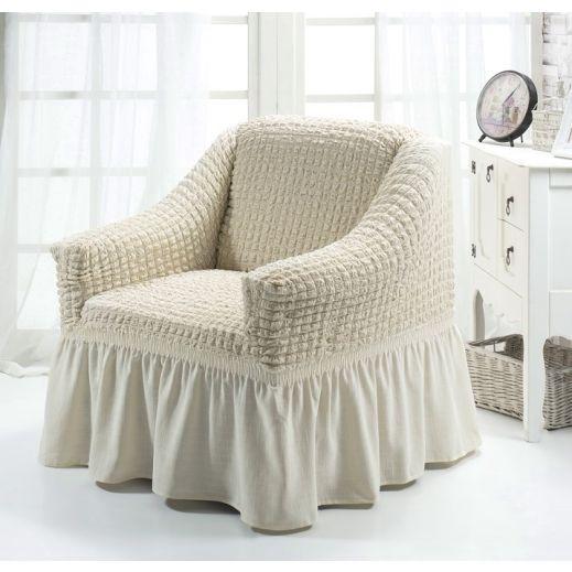 Чехол на кресло Кремовый арт К 029