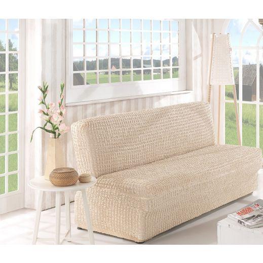 Чехол на диван без подлокотников 3м арт2650 натурал