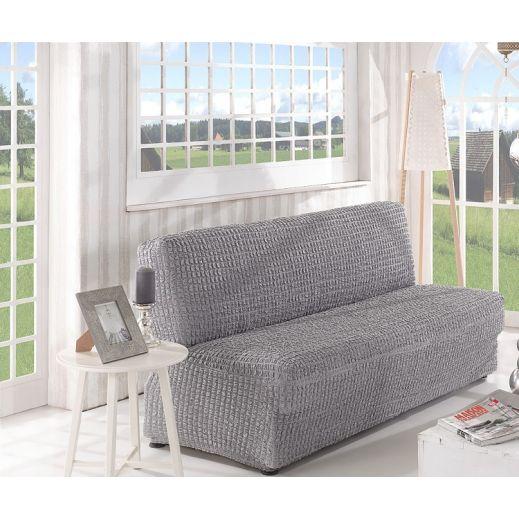 Чехол на диван без подлокотников 3м арт2650 серый
