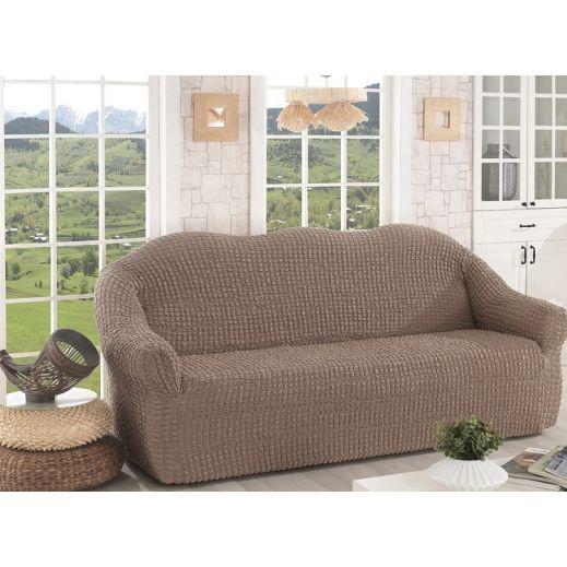 Чехол для дивана без юбки арт К 043 кофе