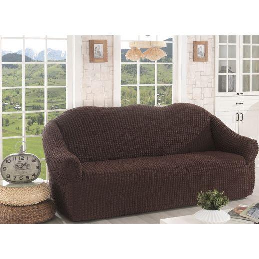 Чехол для дивана без юбки арт к 043 коричневый