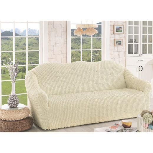 Чехол для дивана без юбки арт К 043  крем