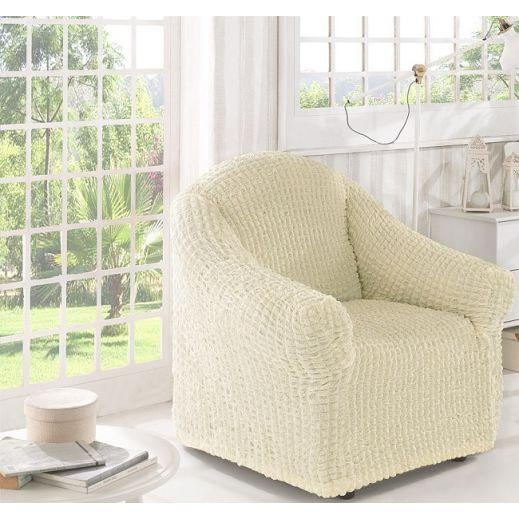 Чехол для кресла без юбки арт2653 крем