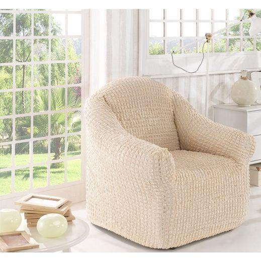 Чехол для кресла без юбки арт2653 натурал