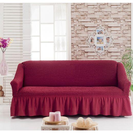 Чехол на диван 3-мест Бордо арт 8122м