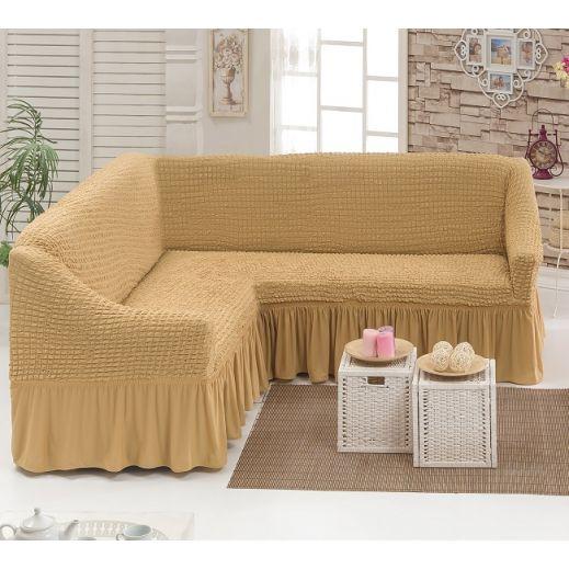 Чехол на угловой диван Медовый DO&CO арт ам8209