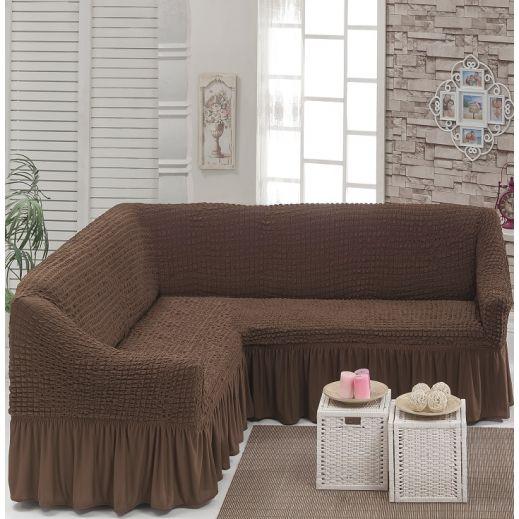 Чехол на угловой диван Шоколад DO&CO арт ам8209