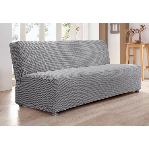 Чехол на диван без подлокотников 2м Karna PALERMO арт.2935 Стоне