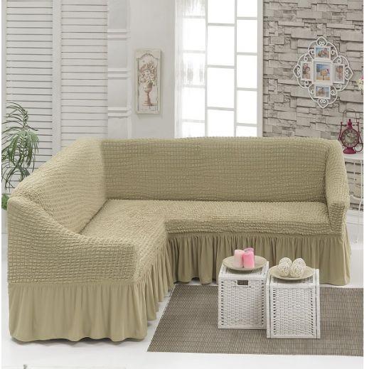 Чехол на угловой диван Молочный DO&CO арт8209м
