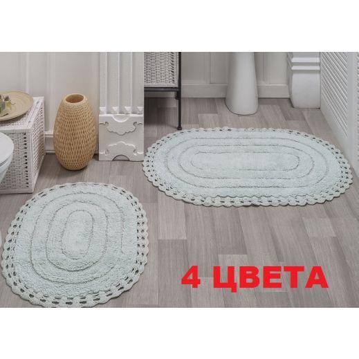 Набор ковриков кружевной YANA 60x100 +50x70 Ментол (арт 5026)