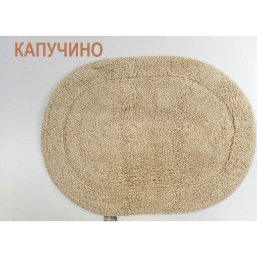 Коврик для ванной овальный GALYA 45x65 Капучино (арт 5030)