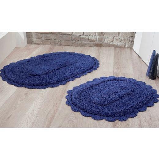 Набор ковриков LOKAL 60X100 + 50X70 синий (арт 5097)