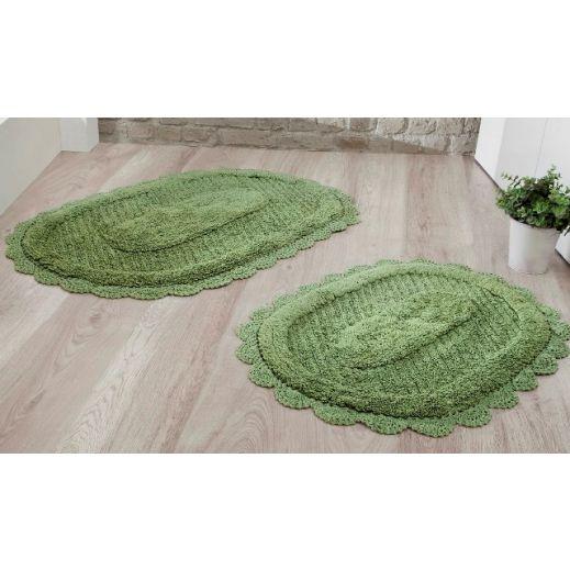 Набор ковриков LOKAL 60X100 + 50X70 зеленый (арт 5097)
