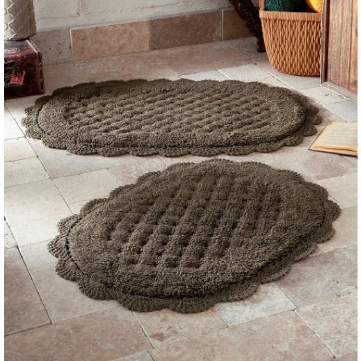 Набор ковриков MERIT 2 шт Коричневый (арт 5098)