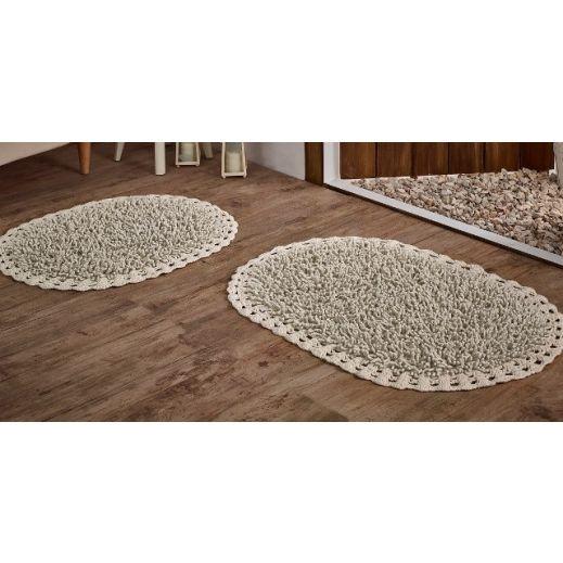Набор ковриков 2 шт DUAL Крем (арт 5099)