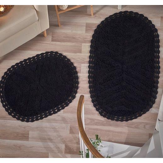 Набор ковриков CROSS 2 шт Черный (арт 5101)