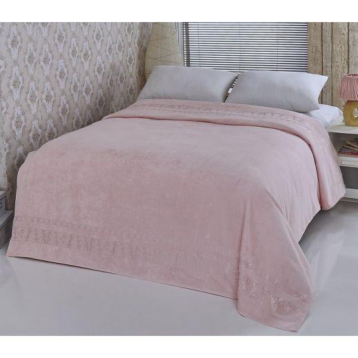 Простынь бамбуковая PUPILLA ELIT 200x220 Розовый арт 808/2