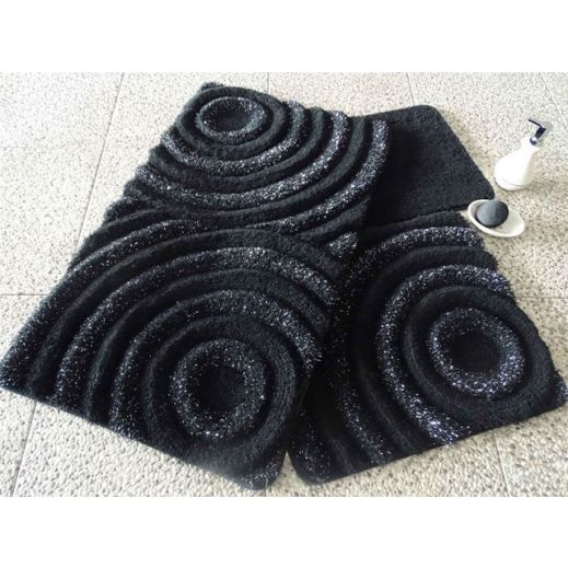 Набор ковриков DO&CO Wave черный арт.9401