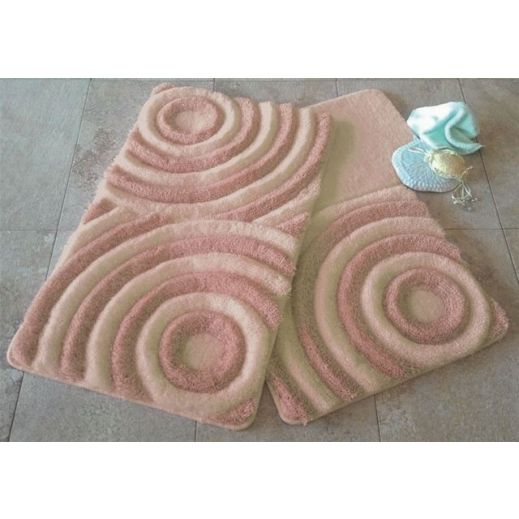Набор ковриков DO&CO Wave персиковый арт.9401