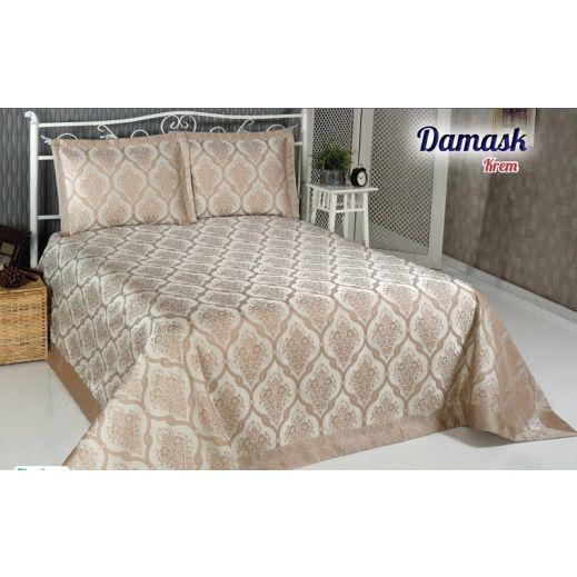 Покрывало жаккард DAMASK (250x270) Бежевый арт8998