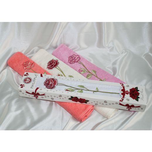 Полотенце подарочное 50х90 Philippus Rose №8269