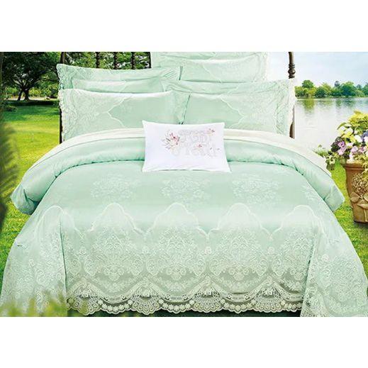 Постельное белье блюмарин Cristelle зеленое QYX-0280-02