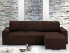 Чехол на угловой диван АЛЯСКА коричневый правый