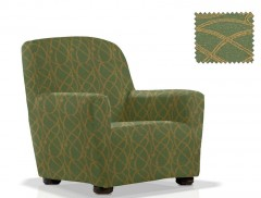 Чехол на кресло ПИКАСО зеленый