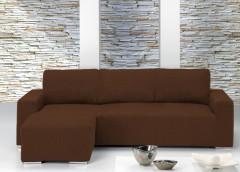 Чехол на угловой диван ТЕЙДЕ коричневый левый