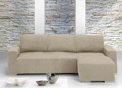 Чехол на угловой диван ТЕЙДЕ правый слоновая кость