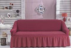 "Чехол для дивана ""BULSAN"" трехместный Грязно-розовый"