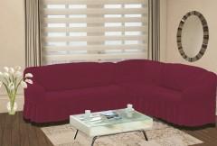 Чехол на угловой диван правый BULSAN 2+3 Светло лаванда арт.1798
