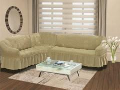 Чехол на угловой диван правый BULSAN 2+3 Бежевый арт.1798