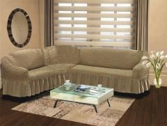 Чехол на угловой диван правый BULSAN 2+3 Кофейный арт.1798