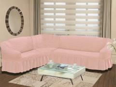 Чехол на диван угловой BULSAN 2+3 левосторонний Розовый
