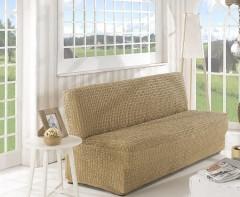 Чехол на диван без подлокотников 2м арт2649 беж