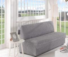 Чехол на диван без подлокотников 2м арт2649 серый