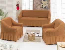 Набор чехлов диван и 2 кресла Карамель арт7565