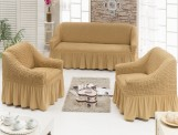 Набор чехлов диван и 2 кресла 3+1+1 Медовый арт7565