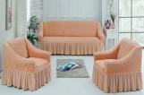 Набор чехлов диван и 2 кресла 3+1+1 Оранж арт7565