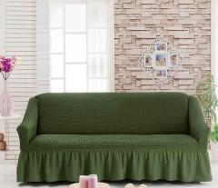 Чехол на диван 3-мест Оливковый арт 8122м