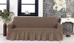 Чехол на диван 3-мест СероКоричневый арт 8122м