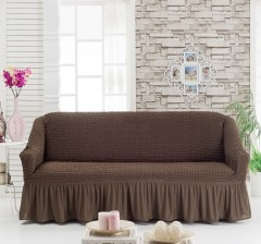 Чехол на диван 3-мест Шоколад арт 8122м