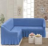 Чехол на угловой диван Голубой DO&CO арт8209м