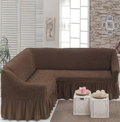 Чехол на угловой диван Шоколад DO&CO арт8209м